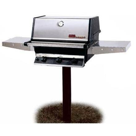 MHP MHP THRG2 Hybrid Natural Gas Grill W/ SearMagic Grids On In-Ground Post